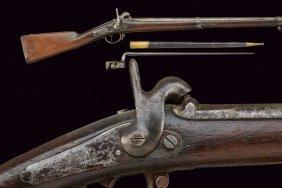 A Percussion Gun With Bayonet