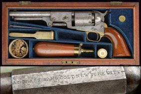 A Very Rare Cased Colt Hartford English Dragoon