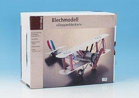 Deko-Modell Flugzeug Doppeldecker