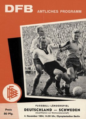 Football Programm Germany V Sweden 1964