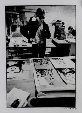 Nat Finkelstein Photograph Of Andy Warhol