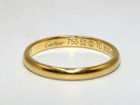 Cartier 18kt Yg Wedding Band