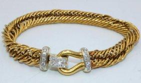 Pomellato 18kt Rg Weave Design Approx. 1.00ct. Diamond