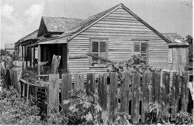 Rudy Burkhardt, Boarded House, Ca. 1940.