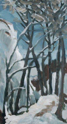 Gottfried Br�unling, Winterlandschaft. Wohl 1980's.