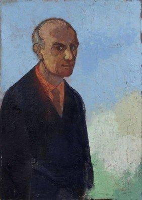 """Heinrich Burkhardt """"Selbstbildnis"""". 1977."""
