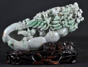 Chinese Carved And Sculptured Jade Piece