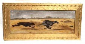 Greyhound Chasing Prey By J.h. Beard
