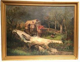 Cottage Landscape School Of Herman Herzog