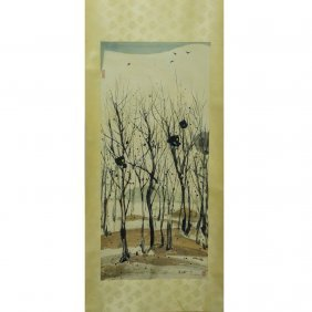 A Chinese Scroll Painting (Attributed to Wu Guanzhong)