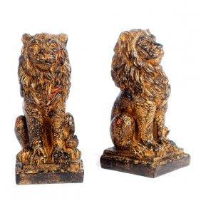Regal Lion Bookends