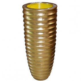 Ringed Vase - Gold