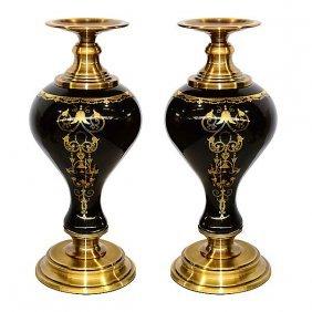 Black Toulled Candleholder -s2