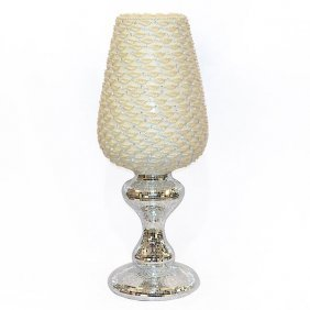 Pearlescent Crystal Vase