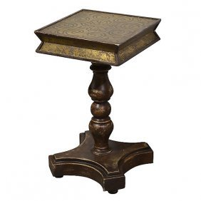 Etched Accent Table