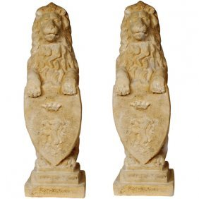 Heraldic Lion Set Of 2