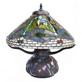 Dragonfly Mosaic Table Lamp