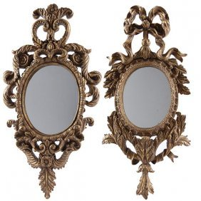 Baroque Gilt Mirrors Set Of 2 Free Shipping