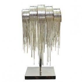 Art Deco Nickel Lamp Free Shipping