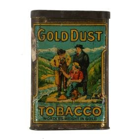 """Rare Canadian B. Houde Co. Quebec """"Gold Dust"""" Tobacco"""