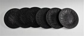 Lalique Algues Noir Plate Set