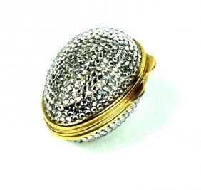 Judith Leiber Swarovski Crystal Egg Formed Box