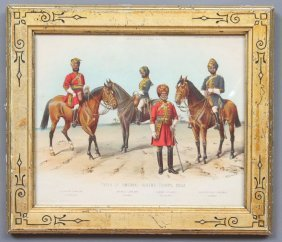 Anglo Indian Military Costume Print