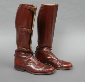 Pair Men's Polo Or Riding Boots 8 1/2