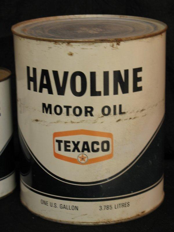 724 Vintage Texaco Havoline Motor Oil Quart Cans Lot 724