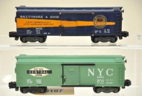 American Flyer S-Gauge 24023 And 24065 Boxcars
