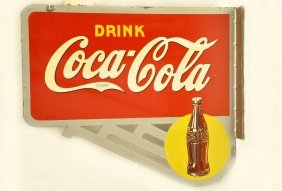 Coca-Cola Flanged Metal Sign
