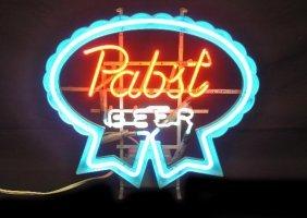 Vintage Pabst Beer Neon Sign