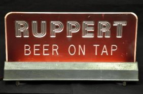Lighted Ruppert Beer Sign
