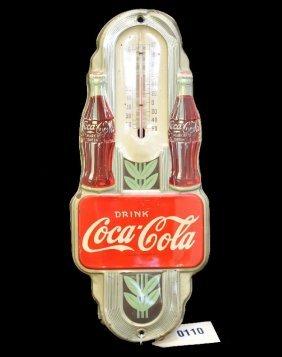 Unusual Art Deco Coca-Cola Thermometer
