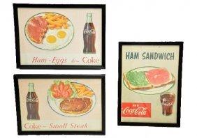 3- 1953 Coca-Cola Diner Signs