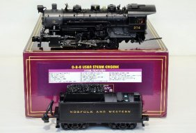 MTH 20-3123-1 N&W 0-8-0 Steam Engine