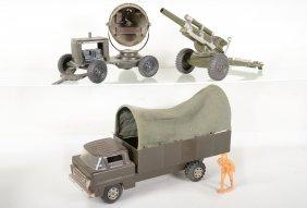 Vintage Marx Lumar Us Army Truck Set