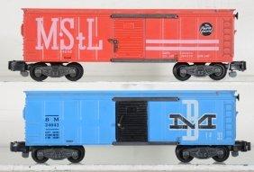 Ln American Flyer 24043 & 24048 Boxcars