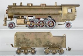 Custom Made Brass O Gauge Steam Locomotive