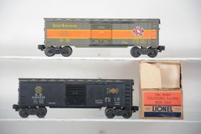 Boxed Lionel Gn & Sp 6464 Boxcars