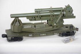 Clean Lionel 6651 Usmc Big Bertha Cannon