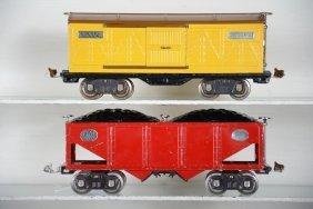 Clean Lionel Nickel 516 & 514 Freights