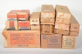 Large Group Lionel Empty Boxes