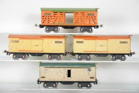 4 Lionel 500 Series Freight Cars