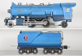 Restored Lionel 263e Blue Comet Steam Loco