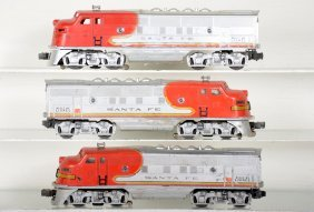3 Lionel 2343 Sf F3 Non-powered Diesels