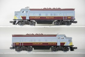 Lionel Mpc 8865 & 8866 Canadian Pacific F3 Aa Diesels