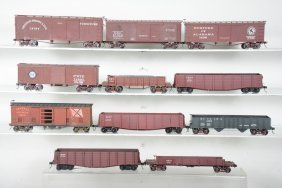 11 2-rail O Scale Freight Cars