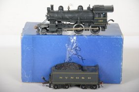 2-rail O-scale Brass Nynh&h 4-4-0
