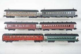 6 2-rail O Scale 19th Century Passenger Cars
